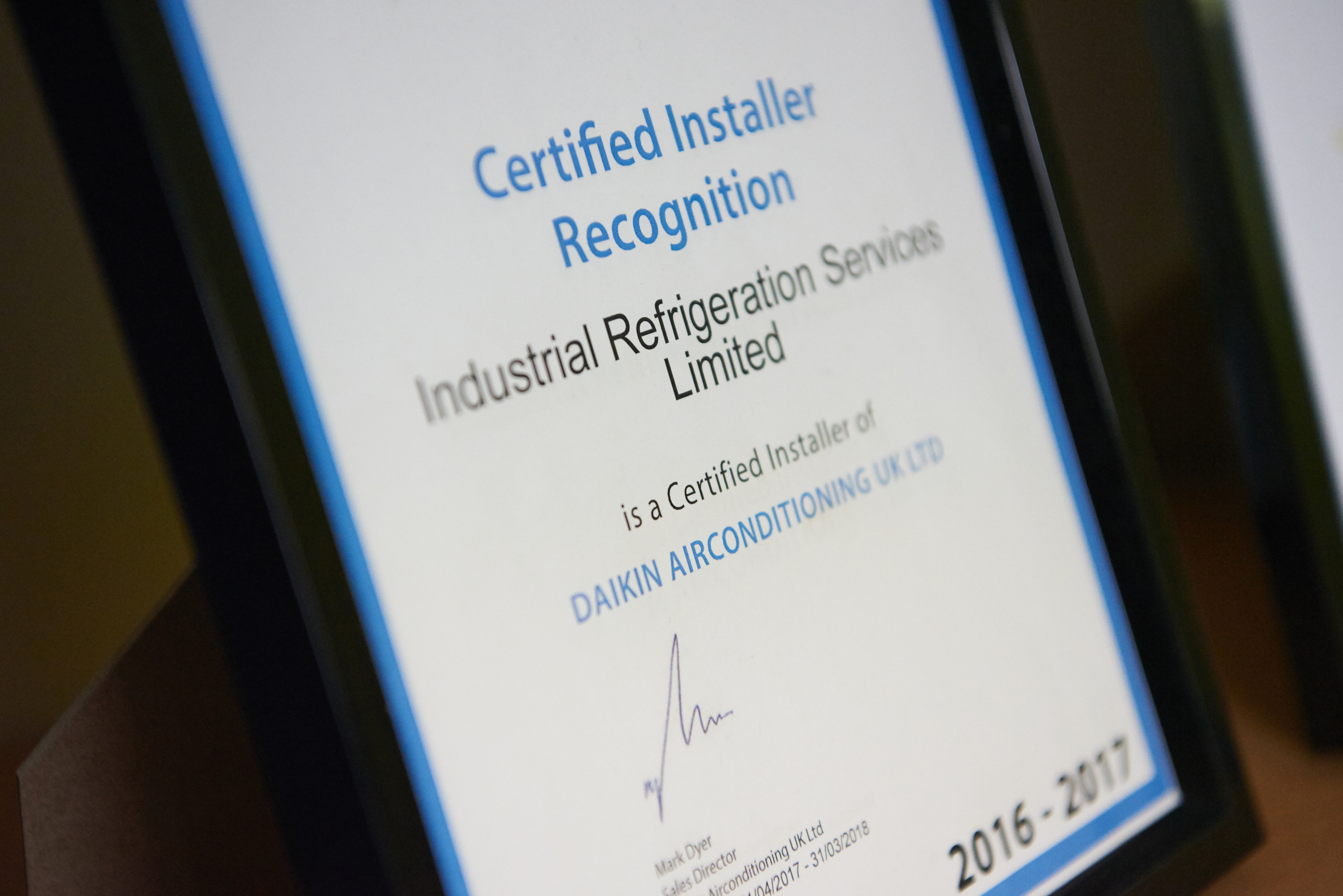IRS Become Daikin Certified Installers